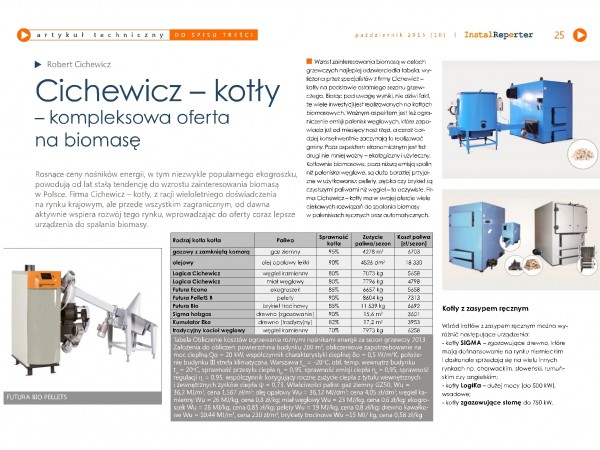 Press about biomass and pellets burners