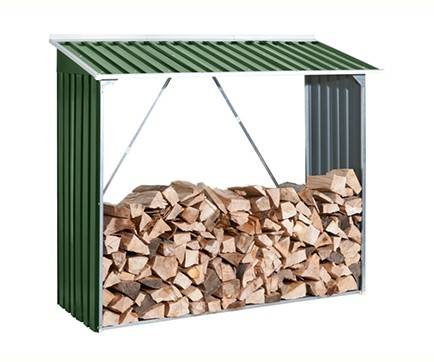 Firewood metal shelters