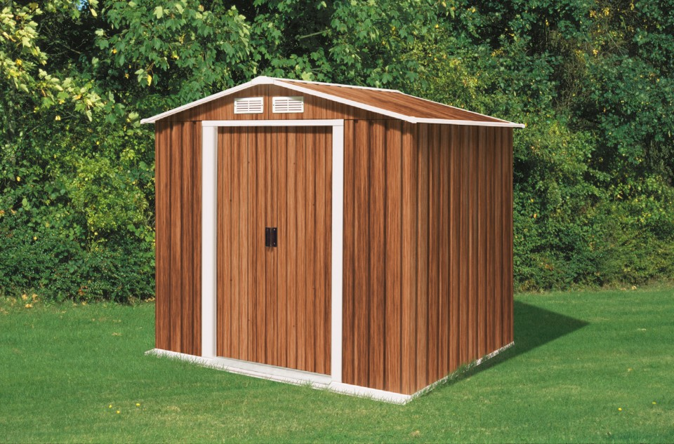 Metal shed 6x4 wooden timber houses and garden storage for Garden shed 6x4 sale